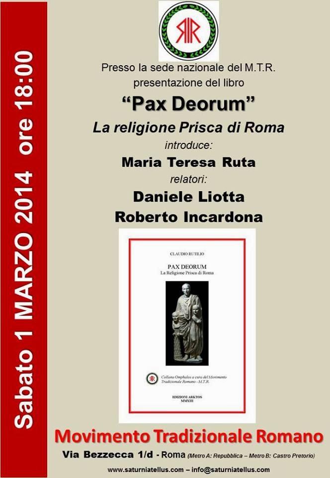 Pax Deorum, la religione prisca di Roma