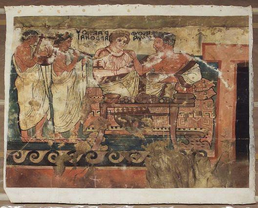 """Iscrizione etrusca della """"Tomba degli Scudi"""""""