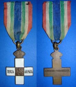 La medaglia commemorativa per i combattenti della Terza Armata