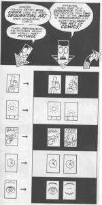 """Differenza fra """"arte del fumetto"""" e """"arte dell'immagine"""" secondo McCloud"""