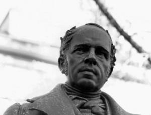 Il monumento che Ginevra ha dedicato al suo concittadino Rodolphe Töpffer