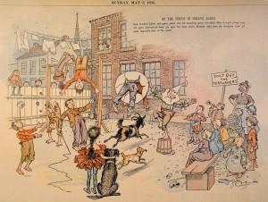 La prima apparizione di Yellow Kid nel 1895