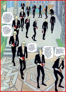 Quasi 500 anni dopo il Botticelli il fumettista calabrese Gianni De Luca usa la stessa tecnica grafico-narrativa (da Amleto)