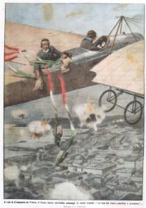 Il volo di D'Annunzio su Trieste. Il Poeta lancia patriottici messaggi ai nostri fratelli La fine del vostro martirio è prossima!