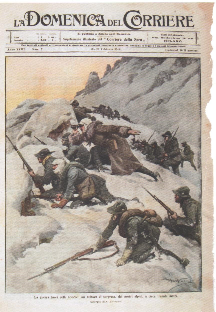 La guerra fuori dalle trincee: un attacco di sorpresa, dei nostri alpini, a circa tremila metri