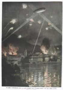 Un audace bombardamento aereo un nostro dirigilbile lancia 40 granate-torpedini sulle opere militari di Riva