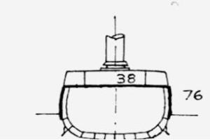 b) profilo incrociatori classe Omaha (Milwaukee)