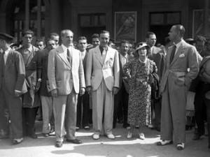 Luglio 1935: Disney arriva a Roma ricevuto da Luigi Freddi