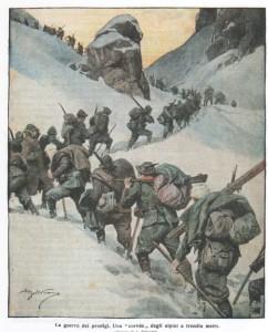 La guerra dei prodigi. Una corvée degli alpini a tremila metri.