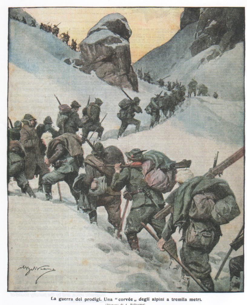 """La guerra dei prodigi. Una """"corvée"""" degli Alpini a tremila metri"""