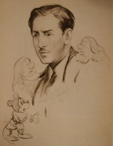 Walt Disney ritratto da Woolf alla fine degli anni Trenta