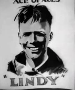 """Charles Lindbergh come appare nel cartonimato """"Plane Crazy"""" del 1928 (distribuito nel 1929). (c) Disney"""