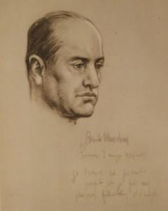 Il Duce ritratto nel 1929 da Samuel J. Woolf, pittore di New York morto nel 1948
