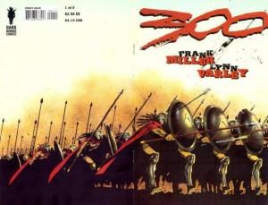 La copertina aperta del primo albo (in originale) della miniserie