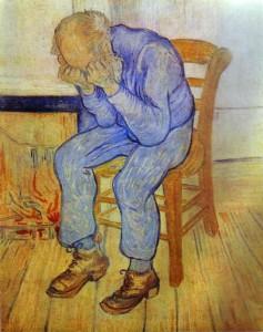 Depressione e arte: Vincent Van Gogh, 1890 (Vieil homme en pleurs)