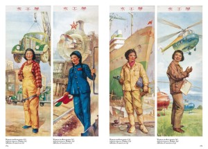 Santificazione della lavoratrice nei manifesti di propaganda politica maoista