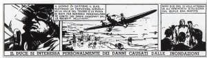 """Un bel Mussolini a fumetti, da """"Topolino"""" n. 265 del 20 gennaio 1938. Disegno di Kurt Caesar"""