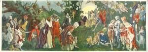 Un'illustrazione degli anni Trenta con protagoniste le Fate, ispirata al capolavoro di Spenser