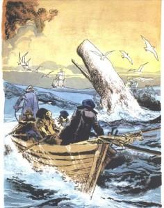 """9) file moby: """"Moby Dick – la grande balena bianca associata da Melville a Demogorgone – nell'interpretazione di Dino Battaglia"""""""