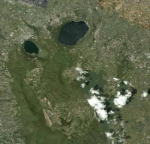 Demogorgone nel paesaggio laziale, secondo Di Nardo, in una foto scattata dal satellite