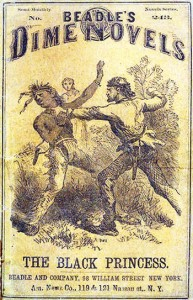 Una tipica dime novel americana ottocentesca