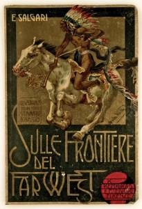 Copertina del primo libro della Trilogia del West di salsari (Bemporad - Firenze, 1908)