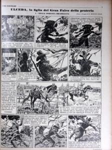"""La prima puntata dell'avventura, come appariva su """"I Tre Porcellini"""" n. 11 del 5 giugno 1935 (immagine tratta dal blog """"Anni Trenta"""")"""