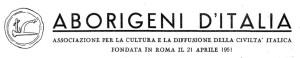 """Intestazione del bollettino """"Aborigeni d'Italia"""", con il sigillo dell'Associazione raffigurante l'aratro"""