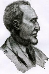 """Romolo Artioli in un ritratto del pittore Sartorio (dal """"Bollettino di Numismatica"""" n° 4 2014)"""
