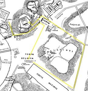 Ricostruzione del percorso del trionfo a Roma (Galiano)
