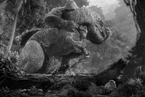 King Kong contro il dinosauro nel film del 1933