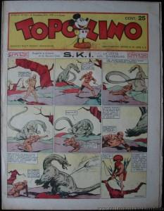 La IV puntata su Topolino n. 154: il primo mostro affrontato da Varo Vaschi, un tradizionale drago.