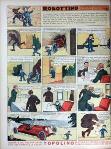 """""""Robottino"""" di Yambo sul settimanale """"I Tre Porcellini"""" nel 1935"""
