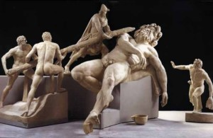 Odisseo acceca Polifemo – gruppo marmoreo Sperlonga, Museo archeologico