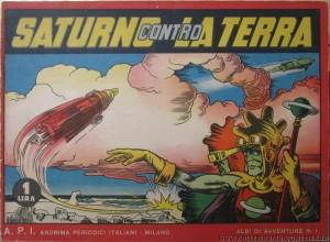 """Inizia la prima ristampa di """"Saturno contro la Terra"""" su """"Albi di Avventure"""" n. 1, 1939"""