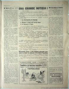"""""""Paperino"""" n. 149, ottobre 1940: editoriale di chiusura. """"saturno contro la Terra"""" torna su """"Topolino"""""""