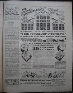 """Febbraio 1937: """"I Tre Porcellini"""" chiude e si fonde con """"Topolino"""", spostando sulla nuova testata anche la serie di """"Saturno"""""""