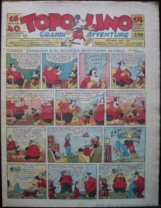 """""""Topolino"""" n. 239 del 22 luglio 1937, con la 1a puntata di """"Rebo ritorna"""""""