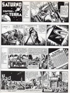 """La prima pagina di """"Saturno contro la Terra"""", apparsa su """"I Tre Porcellini"""" n. 93 (Anno III) del 31 dicembre 1936"""