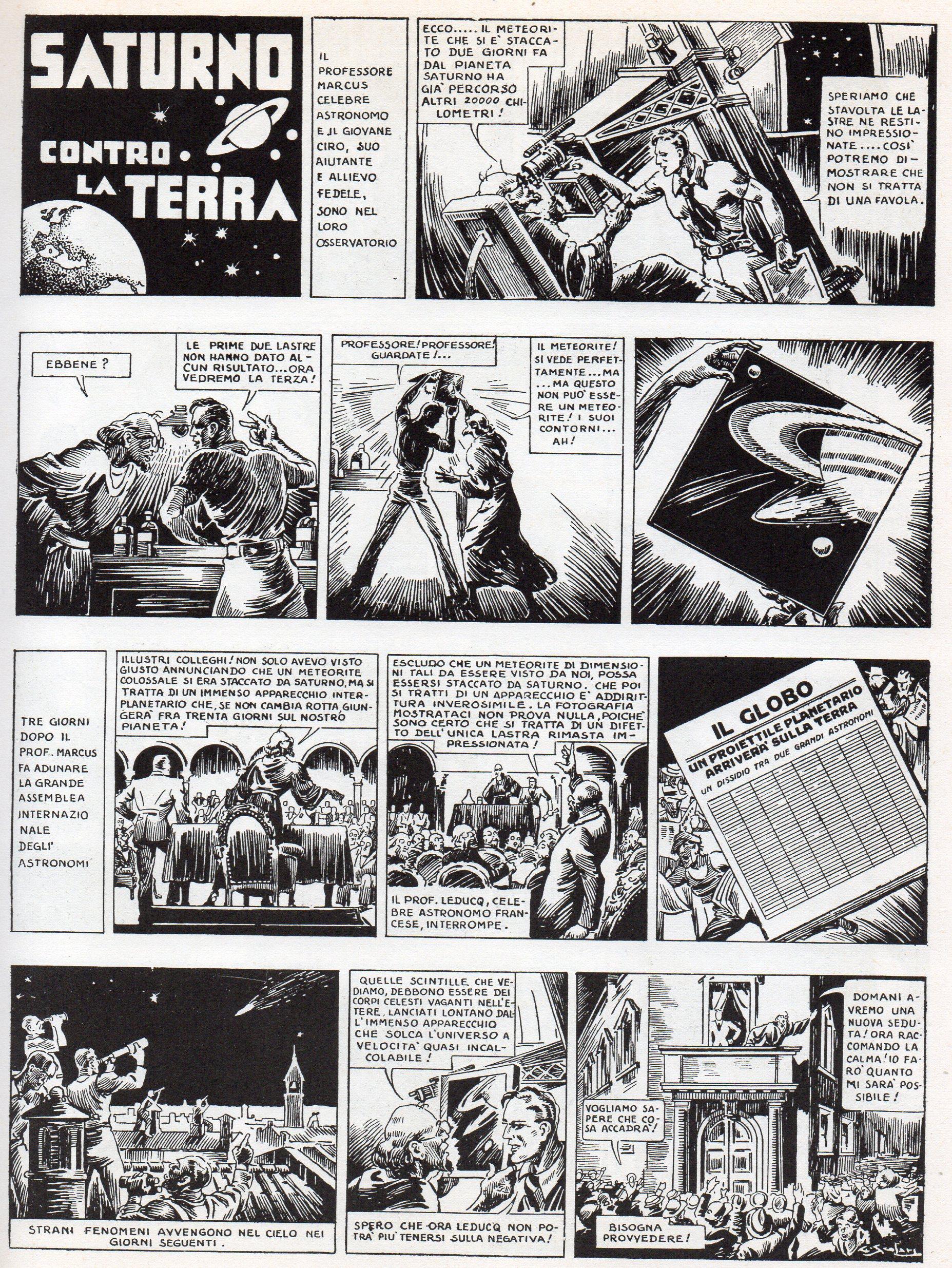 Fascismo & Fumetto: Saturno contro la Terra (seconda parte) – di Francesco G. Manetti