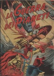 """La copertina dell' """"Albo d'Oro"""" n. 57 del 14 giugno 1947, sul quale apparve la prima ristampa dell'episodio """"la guerra dei pianeti"""""""