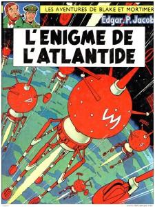 """La copertina originale della raccolta in volume della storia """"L'enigma di Atlandide"""" di E. P. Jacobs"""