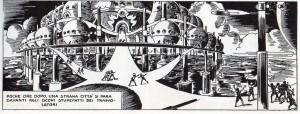 La fantastica capitale di Plutone, sospesa elettromagneticamente