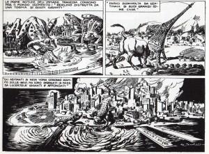 Berlino, Parigi e New York distrutte dai titanici animali mutati dalla tecnologia saturniana