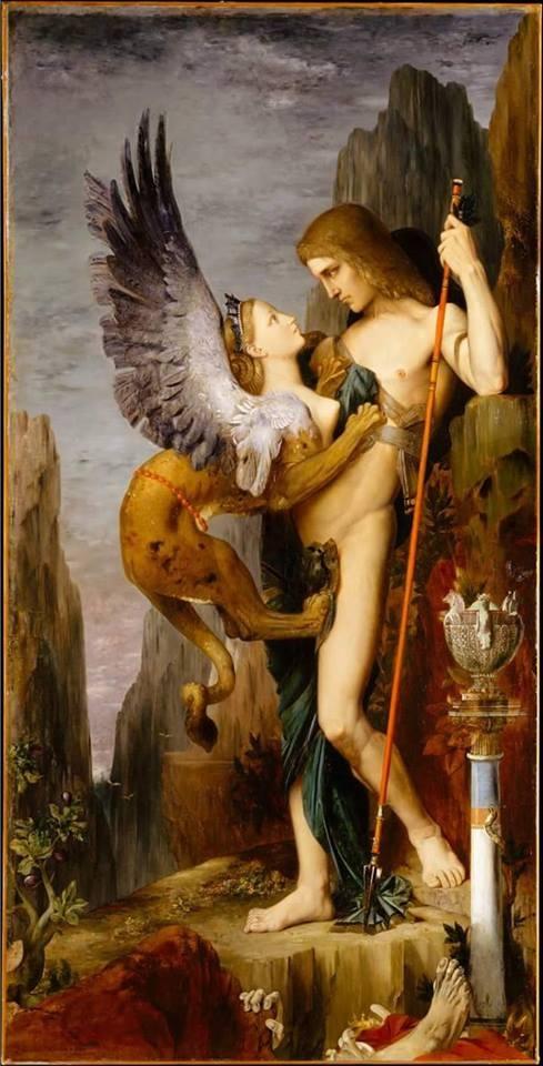 ARTE & ERMETISMO: 'EDIPO E LA SFINGE' di Gustave Moreau a cura di Stefano Mayorca ©