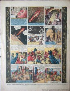 """L'ultima puntata di """"Saturno"""" sull'ultimo """"Paperino"""", il n. 149 del 26 ottobre 1940. La didascalia in calce all'ultima vignetta annunciava la continuazione dell'avventura su """"Topolino"""" n. 411, ma i lettori dovettero aspettare fino al n. 468!"""