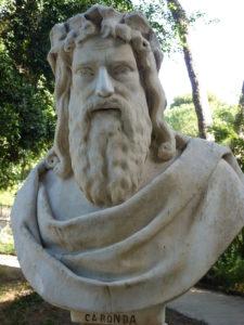 Statua di Caronda -Catania-Piazza Stesicoro