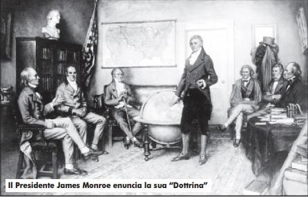 """Dalla """"dottrina"""" di Monroe ai """"quattordici punti"""" di Wilson"""