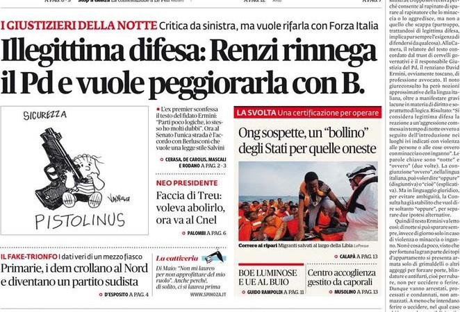 Legittima difesa, illegittima offesa al senso comune – Roberto Pecchioli