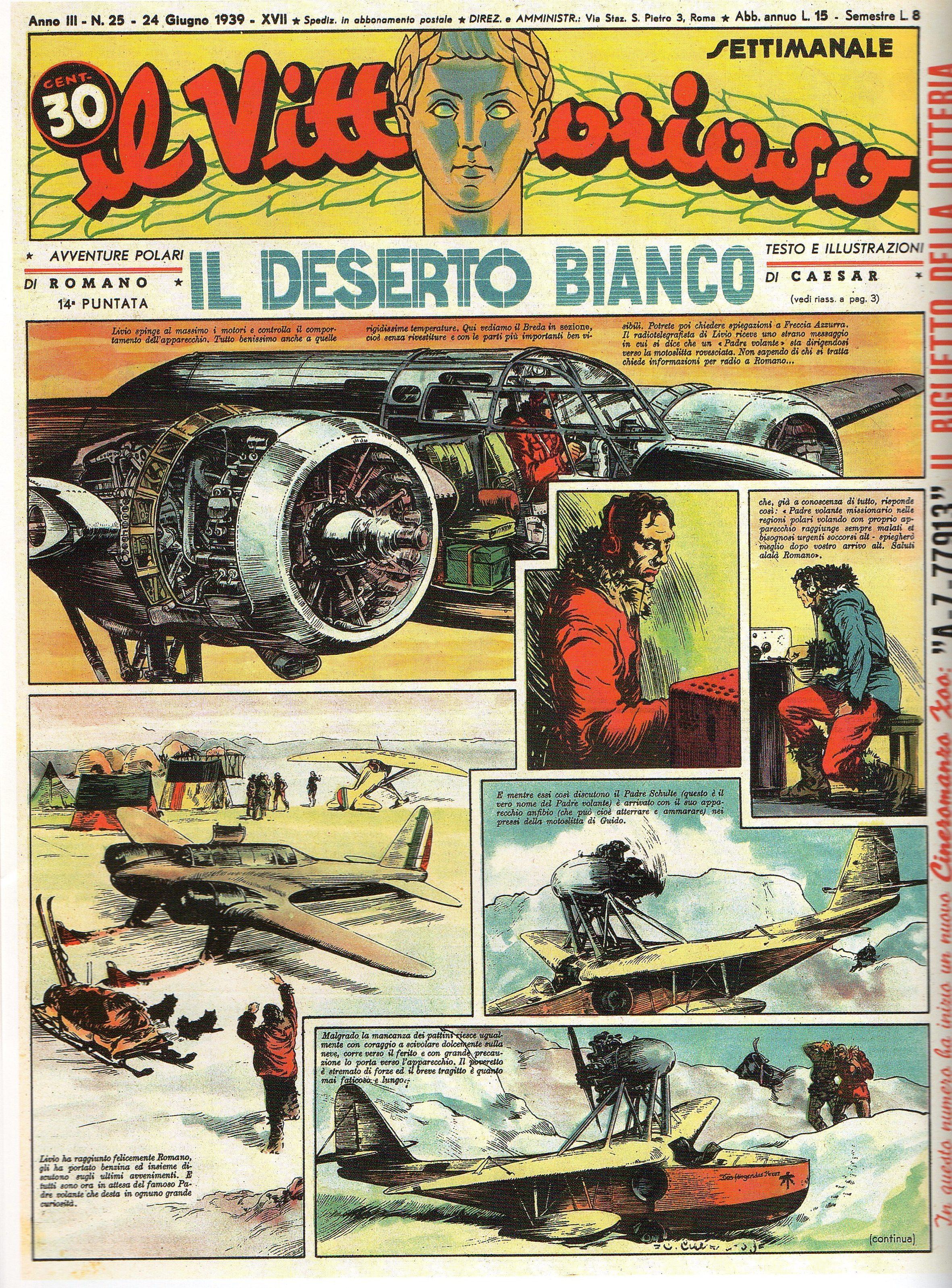 FUMETTO & FASCISMO – LUCE DAL NORD (Le Avventure di Romano, 2a parte – Il Deserto Bianco)